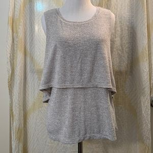 NWOT Juicy Couture Chinchilla Layered Top